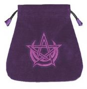 Wicca Purple Velvet Tarot Bag